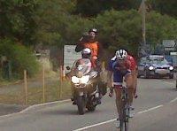 Ian Stannard leading the 2008 Tour of Britain through the Berkshire village of Hermitage