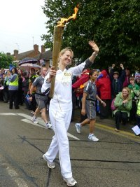 The Olympic Torch in Northampton © essentially-england.com