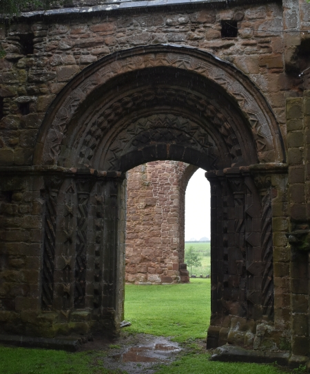 the quality of the construction of lilleshall abbey is demonstrated by the patterning around the processional doorway from the cloister into the church.