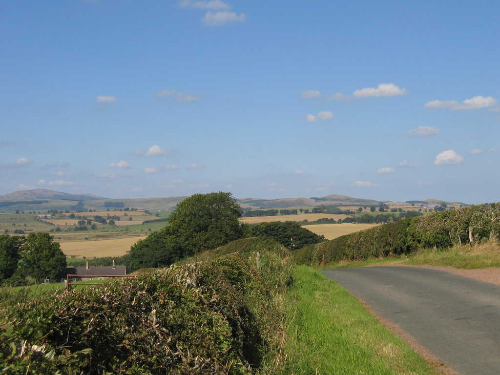 Cycling in Northumberland, View towards the Cheviot Hills