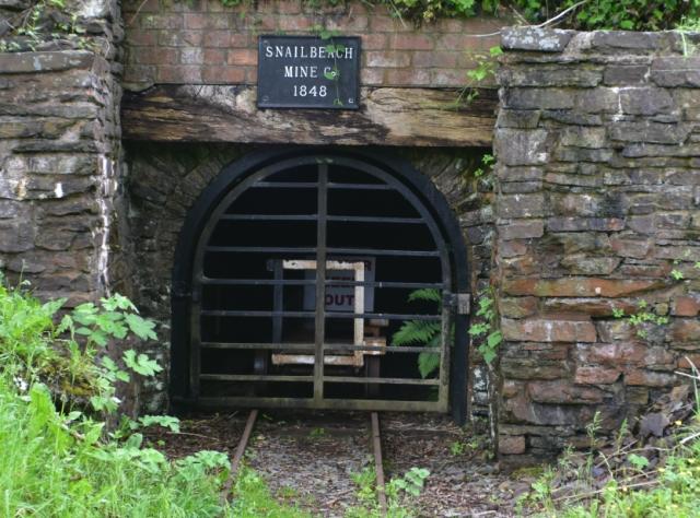 an entrance into snailbeach mine