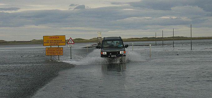 Causeway to Lindisfarne Island