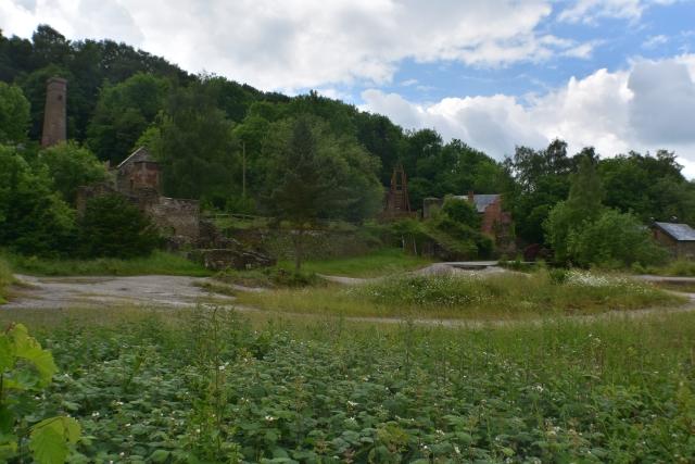 main mining area of snailbeach mine in shropshire