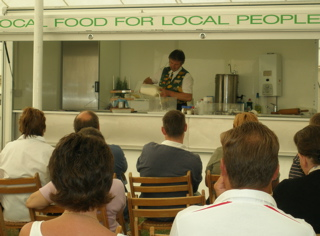 Cookery Demonstration at the Sturminster Newton Cheese Festival © Chris Willis