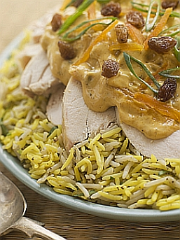 A dish of Coronation Chicken with Rice   © Monkey Business Images Dreamstime.com
