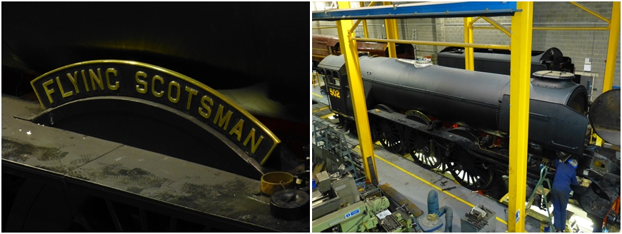 The Flying Scotsman being overhauled at York Railway Museum| © essentially-england.com
