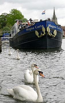 Thames river barge Magna Carta