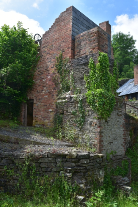 one of the many remaining mine buildings at snailbeach mine