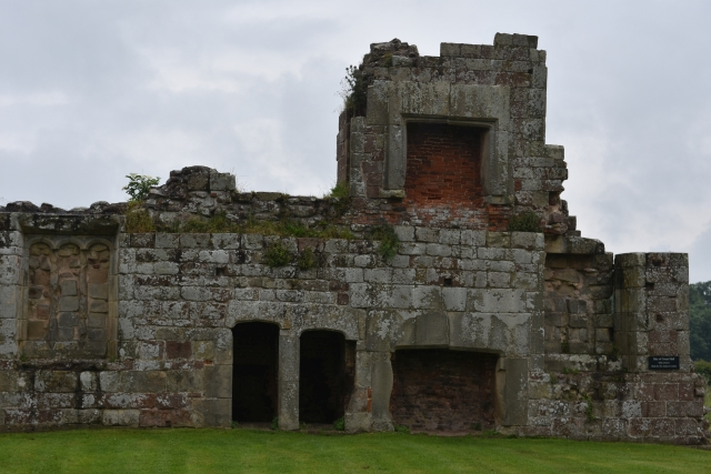 the ruined moreton corbet castle with its interesting combination of medieval and elizabethan buildings.