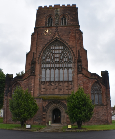 the beautiful shrewsbury abbey in shropshire