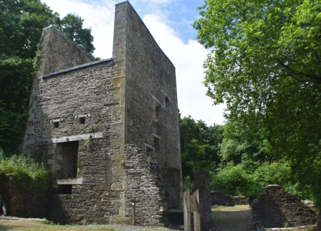 steam winding house dating from 1870 at snailbeach mine in shropshire