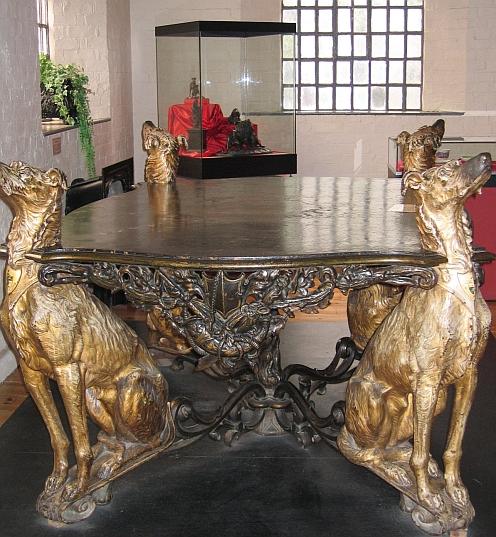 Cast Iron Deerhound Table Designed for the 1855 Paris International Exhibition © essentially-england.com