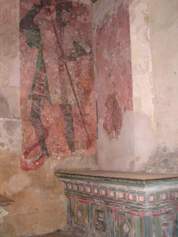 English Castles: Medieval wall paintings in the chapel of Farleigh Hungerford, Somerset