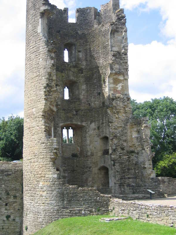 English castles:  Ruined Lady Tower of Farleigh Hungerford Castle, Somerset