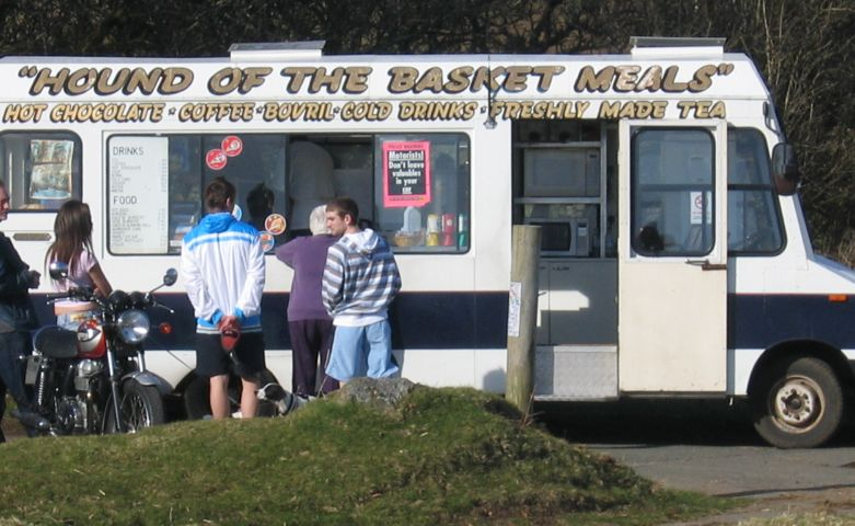 Refreshments at Hound Tor