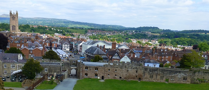 Medieval Town Centre Viewed from the Castle © essentially-england.com