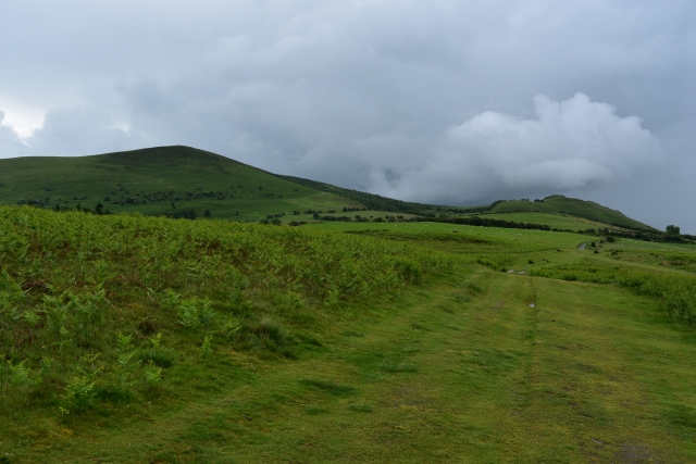 views from around the mystical mitchell's fold stone circle in remote shropshire country side.