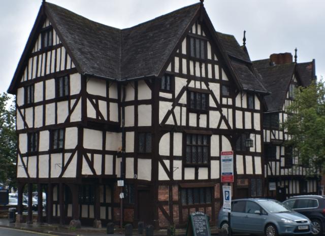 One of many half timber-framed buildings in Shrewsbury, Shropshire © essentially-england.com