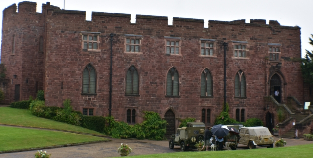 Shrewsbury Castle guards the landward entrance into town and now houses the regimental museum © essentially-england.com