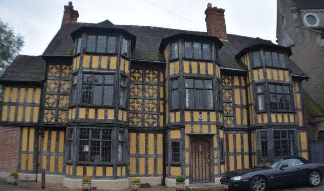 The impressive wood framed castle gate house in Shrewsbury, Shropshire © essentially-england.com