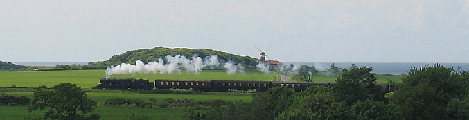 Steam Train along the North Norfolk coast