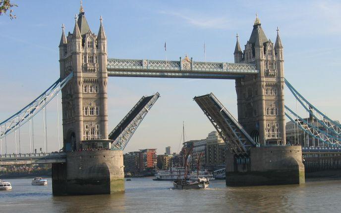 Tall Boat Passing under Tower Bridge