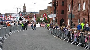 Finish of Stage 2 of the 2008 Tour of Britain