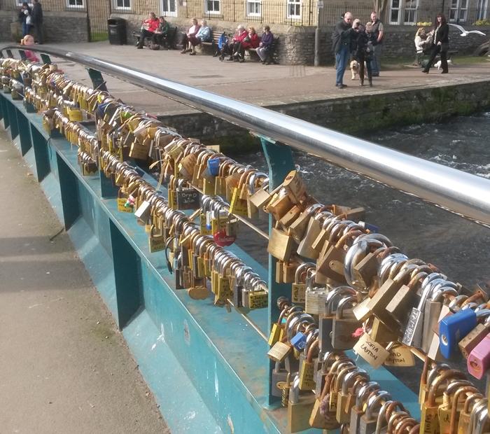 Love Lock Bridge in Bakewell, Derbyshire © essentially-england.com