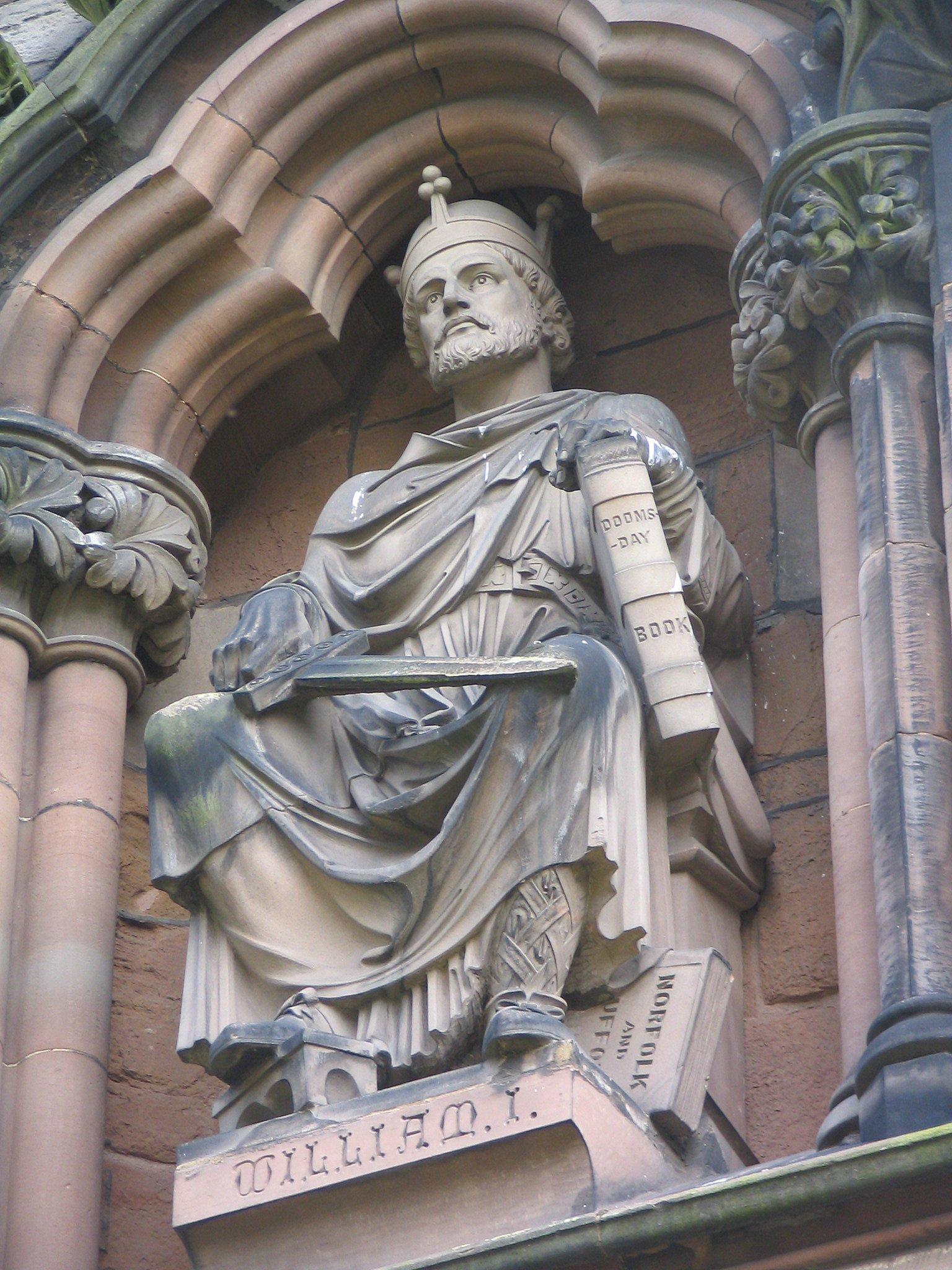 Statue of William the Conqueror on Lichfield Cathedral   Wikimedia Commons Public Domain Image